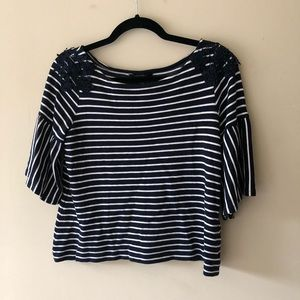 🥯5 for $15🥯 Striped Bell Sleeve Top